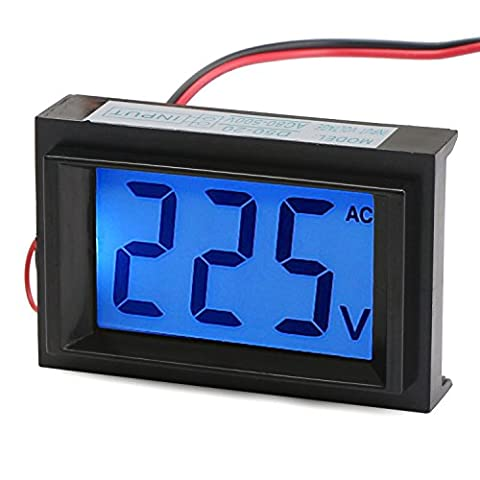 DROK® AC Digital Voltmeter Micro Portable Voltage Meter 80 to 500V Volt Tester Power Supply Monitor LCD Display Panel Voltage Measure
