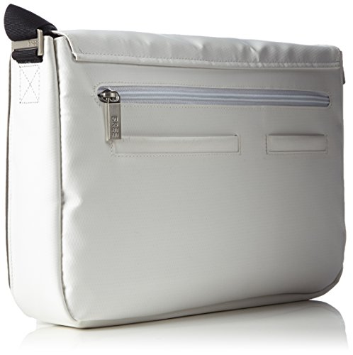 BREE Punch 6283508062 Unisex-Erwachsene Schultertaschen 34x24x8 cm (B x H x T) Mehrfarbig (white/black 508)