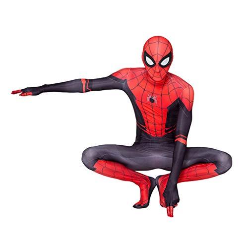 Spider Red Mann Kostüm - Man Rollenspiele Spiderman Kostüm Halloween Update Held Charakter Kostüm Gürtel Kleidung Print Spider Pattern (Color : Red, Size : 180)