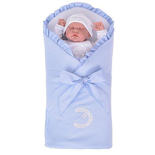 80 Symbol (Sevira Kids - Schlafsack d' emmaillotage - nest engel geburt verstärkt per MATRATZE abnehmbar - Unterschiedliche farbe - Symbol Blau, Ab Geburt - ca. 3/4 Monate, 80 x 80cm)