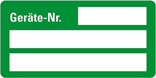 LEMAX® Inventaretikett Geräte-Nr., grün, Dokumentenfolie, selbstklebend,50x25mm,9/Bogen
