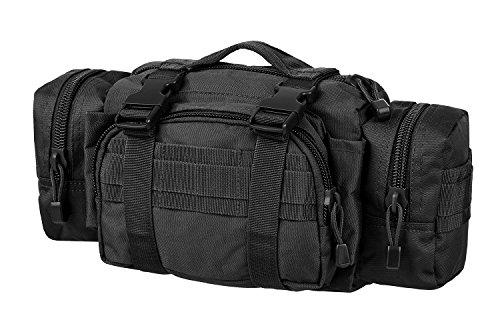 Praktische Gürteltasche mit vielen Taschen Hüfttasche Schwarz OneSize