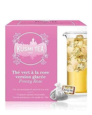 Kusmi Tea - Thé vert à la rose version thé glacé - Boîte de 10 sachets