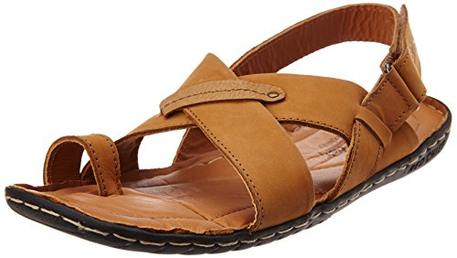 Redchief Men's Rust Leather Sandals and Floaters - 8 UK...