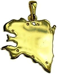 Souvenirs de France - Pendentif Carte de Bretagne - Matériau : Argent Plein, Plaqué Or ou Or Plein 18-Carats