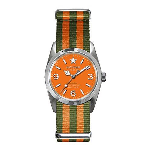 Oxygen  0 - Reloj de cuarzo para mujer, con correa de nailon, color naranja