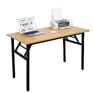Need Bureau d'Ordinateur Informatique pliante 120x60cm Table d'étude / à dîner pliable pour Maison/ Bureau, Teck Chêne Couleur,AC5BB