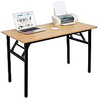 Need Bureau 120x60cm Table traiteur pliante Table Informatique Table buffet camping pliable Bureau de réception, Teck Chêne Couleur