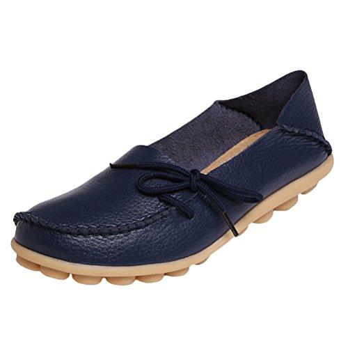 Vogstyle Damen Casual Slipper Flatschuhe Low-top Schuhe Erbsenschuhe Art 1 Navy 38