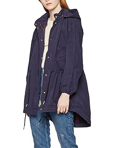 Tommy Hilfiger Damen Jacke Bessie Gmd Parka Blau (Peacoat 443), 40 (Herstellergröße: L)