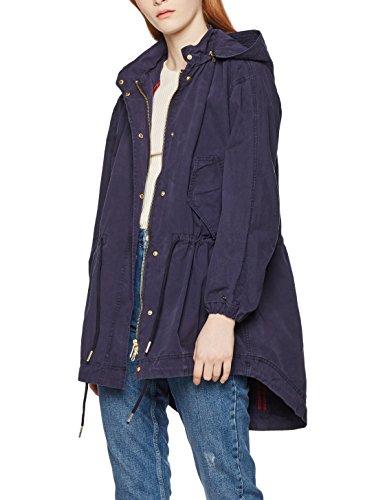 Tommy Hilfiger Damen Jacke Bessie GMD Parka, Blau (Peacoat 443), 42 (Herstellergröße: XL)