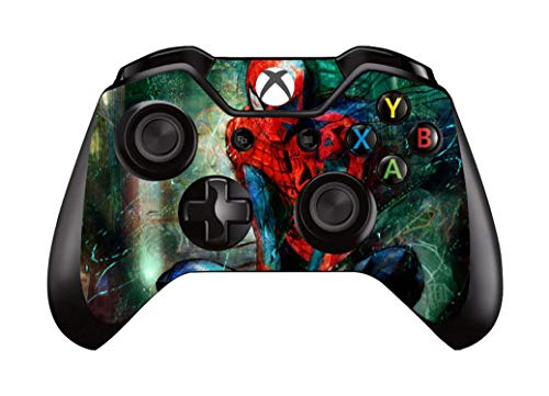 Price comparison product image WELLDRESSED Surper Hero Design Protector Vinyl Skin Sticker For Microsoft Xbox One Controller Decal Gamepad Cover, 5