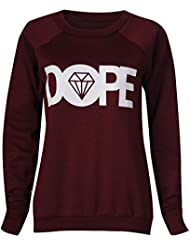 Fast Fashion - Sweatshirt Manches Longues Normal People Pug Life Dope Mickey Print - Femmes