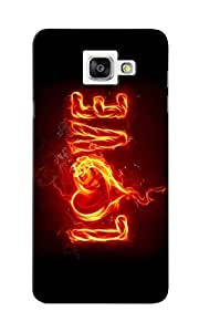 KnapCase Burning Love Designer 3D Printed Case Cover For Samsung Galaxy A7 2016