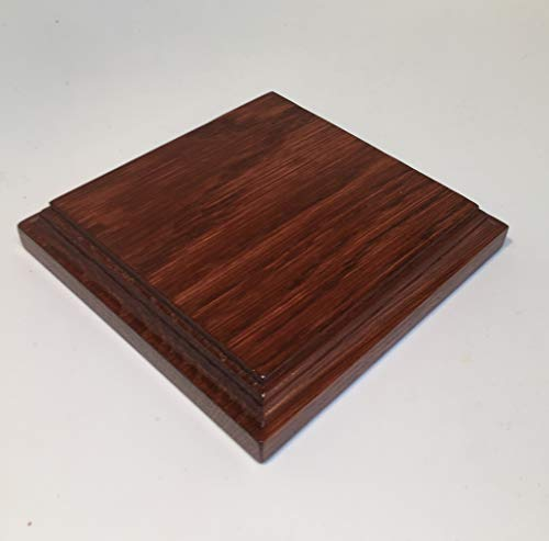 HEWA Holzsockel Sockel Standplatte Grundplatte Quadratisch, Mahagoni. Größe wählbar (180 mm)