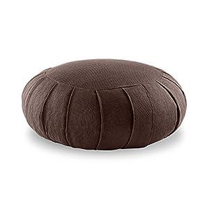 Lotuscrafts Zafu Meditationskissen Yogakissen Zen – Sitzhöhe 15cm – Yoga Zafukissen mit Dinkelfüllung – Bezug aus Bio-Baumwolle – GOTS Zertifiziert