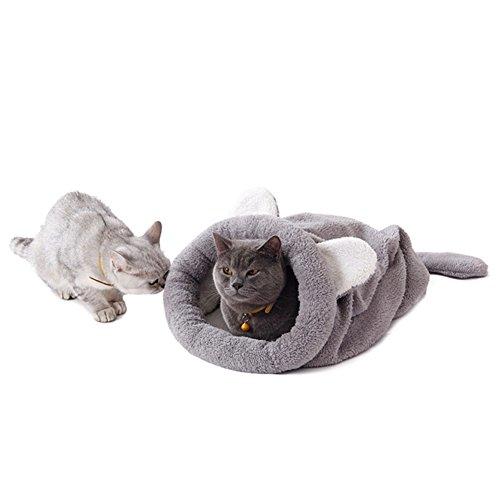 ZREAL Nette Katze schlafende warme Tasche Hundebett Haustier-Welpen-Haus-weiche Matten-Kissen-Haustier-Zusätze