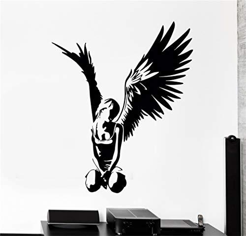 wandaufkleber 3d Wandtattoo Schlafzimmer Aufkleber Engel Teen mit Flügeln Gothic Dekor für Schlafzimmer für Wohnzimmer -