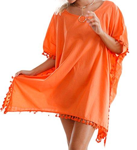 Vian Lundgaard - Copricostume - Basic - Maniche corte  - 100 DEN -  donna Orange