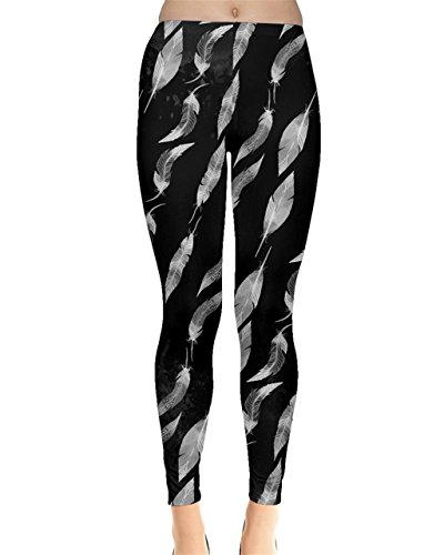 CowCow - Legging - Femme Bleu noir foncé Black Leafy