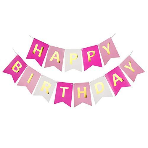 ute zum Geburtstag Banner Baby Dusche Geburtstag Partydekorationen Photo Booth alles Gute zum Geburtstag Bunting Garland Flags [F01multicolor] ()