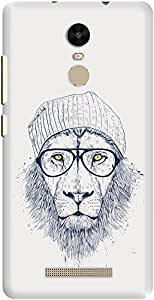 DailyObjects Cool Lion White Case For Xiaomi Redmi Note 3