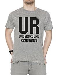 Erido UR Hombre Camiseta Cuello Redondo Gris Manga Corta Todos Los Tamaños  Men s Grey dfd67490dae