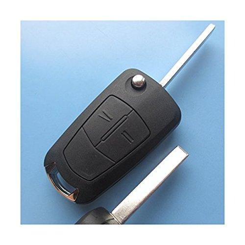 OPELKS01 – Ersatz Schlüsselgehäuse mit 2 Tasten Autoschlüssel Klappschlüssel Schlüssel Chiavi mit Rohlingtyp HU100 Fernbedienung Funkschlüssel Gehäuse ohne Transponder oder Elektronik. INION® (für OPEL (KS01)