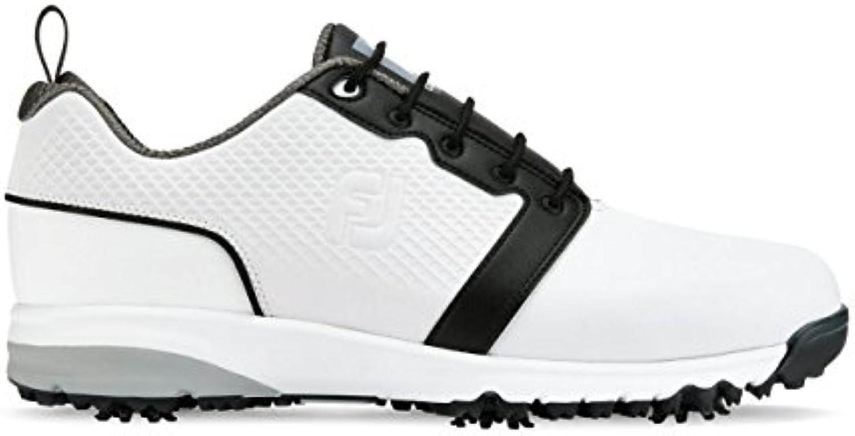 Footjoy Contour Fit, Zapatillas de Golf para Hombre, Blanco (Blanco 54161), 45 EU