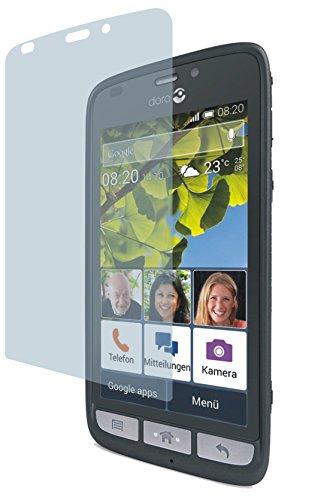 4ProTec Doro Liberto 820 (2 Stück) Premium Bildschirmschutzfolie Displayschutzfolie ANTIREFLEX - Kratzfest UND PASSGENAU