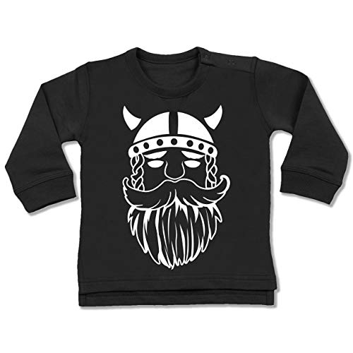 (Shirtracer Bunt gemischt Baby - Wikinger - 12-18 Monate - Schwarz - BZ31 - Baby Pullover)