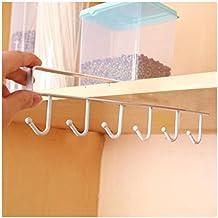 Colgador para tazas Paellaesp Almacenamiento de cocina rack armario gancho de organizador Soportes para Tazas (