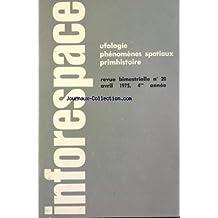INFORESPACE [No 20] du 01/04/1975 - UFOLOGIE - PHENOMENES SPATIAUX PRIMHISTOIRE GUSMAO N'A JAMAIS VOLE - JUILLET 1947 - LE PHENOMENE OVNI ENTRAIT DANS L'HISTOIRE - UNE ENQUETE EN BELGIQUE - OLORON ET GAILLAC - DES EFFETS DE MIROIRS