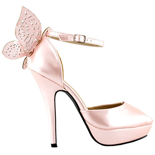 Show Story Baby Pink schmetterling offen zeh kn?chel schnallt sandalen,LF30453BP41,41,Baby Pink Sparkle Club Kleid
