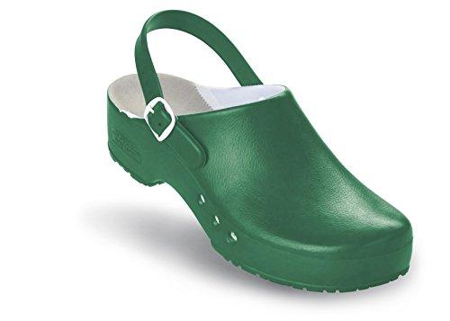 Schürr chiroclogs professional oP-chaussures unisexe avec et sans au niveau du talon Vert - Grün mit Fersenriemen
