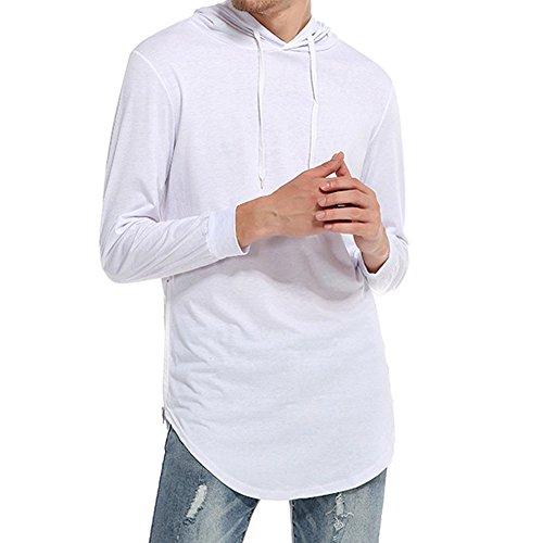 JYJM Männer Casual Ripped Solide Langarm T-Shirt Top Bluse Hohe Qualität Autuam Shirt Winter Warm Shirt