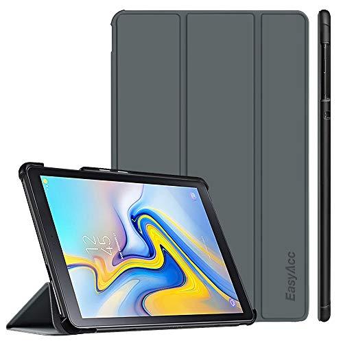 EasyAcc Hülle für Samsung Galaxy Tab A 10.5 2018 - Ultra Dünn mit Standfunktion Auto Sleep/Wake Up Funktion Slim PU Leder Schutzhülle Ideal Passt für Samsung SM-T590/T595 Tab A 10.5 Zoll, Grau