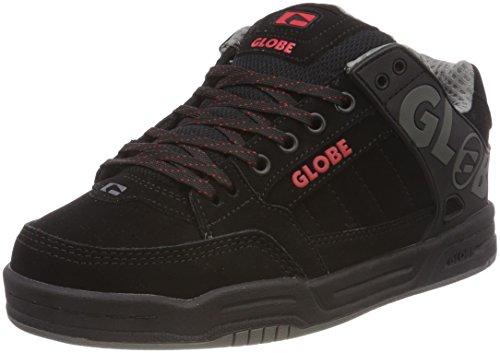 Globe Tilt, Scarpe da Skateboard Unisex-Bambini, Nero (Black/Red 0), 32.5 EU