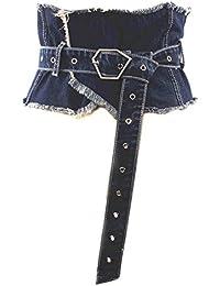 Ying xinguang Cinturón de Mujer de Piel de Punto con Falda Larga para Mujer 97a73f2f914d