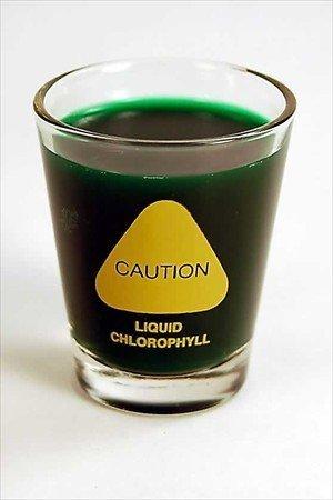 Weizengras Schnapsglas, 57 ml Humorös: Vorsicht. Living Whole Foods Flüssiges Chlorophyll Weizengrassaft