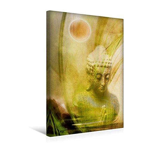 Calvendo Premium Textil-Leinwand 30 cm x 45 cm hoch, Ein Motiv aus Dem Kalender Buddhismus | Wandbild, Bild auf Keilrahmen, Fertigbild auf Echter Leinwand, Leinwanddruck Glaube Glaube
