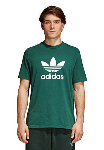adidas Herren T-Shirt Trefoil Collegiate Green