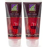 Astaberry Wine Face Wash (100 ml)-Age Defying Hydrating Cleanser- Pack of 2