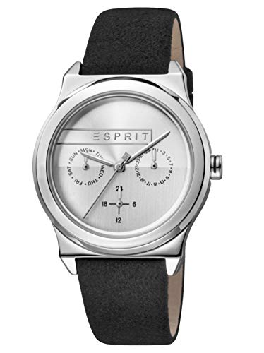 Esprit Womens Multi dial Quartz Watch with Leather Strap ES1L077L0015