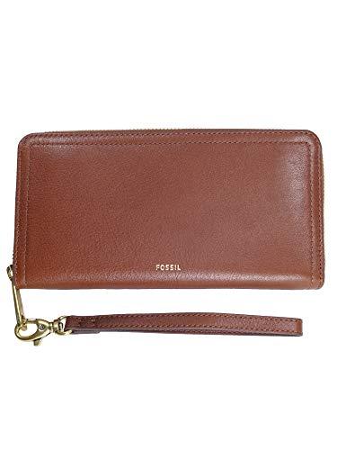 14ff2fec51016 Fossil Damen Geldbörse Portemonnaies RFID Logan Zip Leder Braun SL7831-200