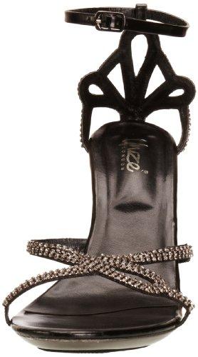 Unze Evening Sandals, Damen Sandalen Schwarz (L18214W)