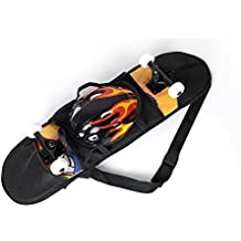 Cooplay 32*8 Black Skateboard Carry Bag Backpack Rucksack Straps with Mesh by Cooplay