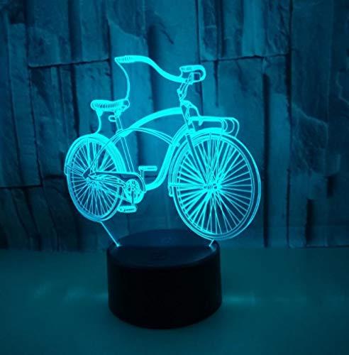 s-Lampen Fahrrad 7 Farben Erstaunliche Optische Täuschung Die Schlafzimmer-Dekoration Für Kinder Weihnachten Halloween-Geburtstagsgeschenk Beleuchten ()