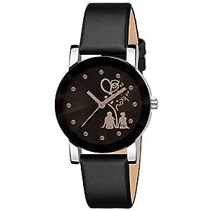 Bhakti Fashion Analogue Girls' Watch (Black Dial Black Colored Strap)
