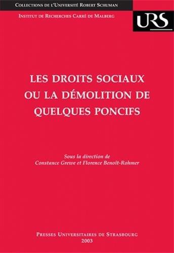 Les droits sociaux ou la démolition de quelques poncifs